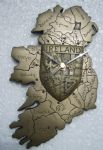 Map of Ireland wall clock with provincial crest.